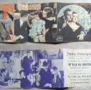 Cine: PROGRAMA DE CINE TRIPLE LA TELA DE ARAÑA PUBLICIDAD 1936 TEATRO PRINCIPAL. Lote 144678898