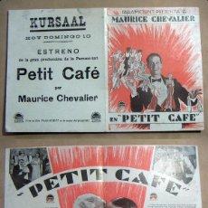Folhetos de mão de filmes antigos de cinema: PROGRAMA DE CINE DOBLE PETIT CAFE PUBLICIDAD TEATRO KURSAAL ELCHE. Lote 144748050
