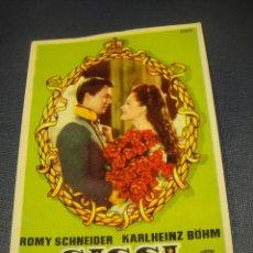 Folhetos de mão de filmes antigos de cinema: SISSI EMPERATRIZ - CINE KURSAAL. Lote 144894190