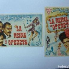 Cinema - PROGRAMAS DE CINE. LA REINA DE LA OPERETA. S/P - 144900606