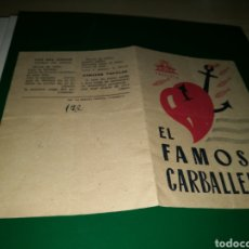 Cine: PROGRAMA DE CINE DOBLE. EL FAMOSO CARBALLEIRA. AÑOS 30. Lote 144907632