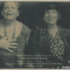 Cine: PROSPERIDAD PROGRAMA DE MANO AÑOS 30 GRAN CINEMA RIVEIRA MARIE DRESSLER POLLY MORAN ANITA PAGE . Lote 145053466