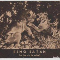 Cine: REMO SATAN LA LEY DE LA SELVA PROGRAMA DE MANO AÑOS 30 SIN PUBLICIDAD. Lote 145054710