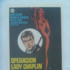 Cine: FOLLETO DE MANO : OPERACION LADY CHAPLIN.. Lote 145069838
