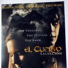 Cine: CINE PELÍCULA EL CUERVO FICHA TÉCNICA DIPTICO 21X30 CERRADO. Lote 145210466