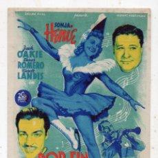 Cine: ¡ POR FIN SE DECIDIÓ! AÑO 1945. SONJA HENIE, JACK OAKIE, CESAR ROMERO, CAROLE LANDIS.. Lote 145472070