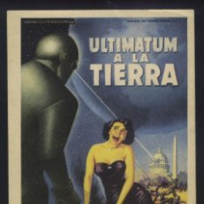 Cine: P-7784- ULTIMATUM A LA TIERRA (THE DAY THE EARTH STOOD STILL) (SOLIGÓ) MICHAEL RENNIE. Lote 145492910