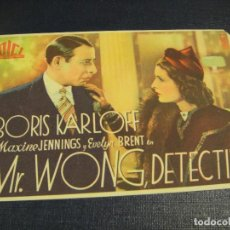 Cine: MR. WONG DETECTIVE - SIN PUBLICIDAD. Lote 145527650