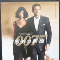 Cine: 007 QUANTUM OF SOLACE JAPANESE B5 CHIRASHI POSTER (26X18 CM). Lote 145545286