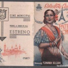 Flyers Publicitaires de films Anciens: LA PATRIA CHICA - ESTRELLITA CASTRO - PROGRAMA DOBLE DE CIFESA CON PUBLICIDAD RF-1983. Lote 145563346