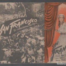 Cine: SAN FRANCISCO PROGRAMA DOBLE MGM SIN PUBLICIDAD RF-1984 . Lote 145563638