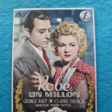 Cine: ROBÉ UN MILLÓN. GEORGE RAFT Y CLAIRE TREVOR.. Lote 145582434