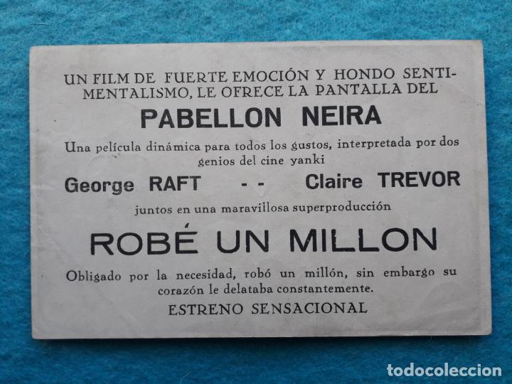 Cine: Robé un Millón. George Raft y Claire Trevor. - Foto 2 - 145582434