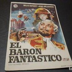 Cine: PROGRAMA DE MANO ORIG - EL BARON FANTASTICO - SIN CINE . Lote 145669818