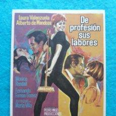 Cine: DE PROFESIÓN SUS LABORES. LAURA VALENZUELA, ALBERTO DE MENDOZA, FERNANDO FERNÁN GÓMEZ..... Lote 145687282