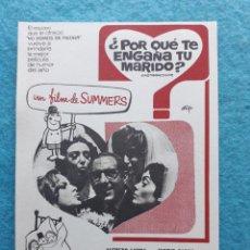 Cine: ¿POR QUÉ TE ENGAÑA TU MARIDO? AÑO 1969. ALFREDO LANDA, JOSE LUIS COLL, ESPERANZA ROY, LALY SOLDEVILL. Lote 145687558