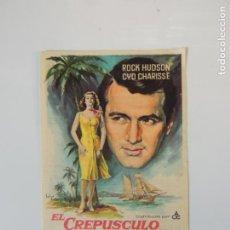 Flyers Publicitaires de films Anciens: EL CREPUSCULO DE LOS AUDACES - FOLLETO MANO ORIGINAL SOLIGO ROCK HUDSON CYD CHARISSE IMPRESO. Lote 145792542