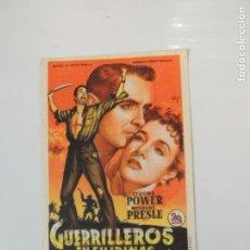 Cine: GUERRILLEROS EN FILIPINAS - FOLLETO MANO ORIGINAL SOLIGO TYRONE POWER 2ª GUERRA MUNDIAL IMPRESO. Lote 145802418