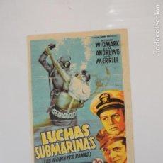 Cine: LUCHAS SUBMARINAS LOS HOMBRES RANAS - FOLLETO MANO ORIGINAL SOLIGO 2ª GUERRA MUNDIAL. Lote 145804466