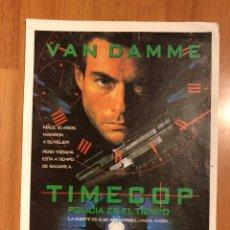 Cine: PROGRAMA TIMECOP JEAN CLAUDE VAN DAMME. Lote 145833682