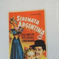 Folhetos de mão de filmes antigos de cinema: SERENATA ARGENTINA - FOLLETO MANO ORIGINAL SOLIGO DON AMECHE BETTY GRABLE CARMEN MIRANDA IMPRESO. Lote 145836586