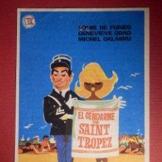 Cine: FOLLETO DE MANO CINE - PELÍCULA FILM - EL GENDARME DE SAINT TROPEZ - CINEMA VICTORIA. Lote 146045114