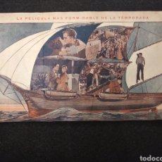 Cine: PROGRAMA DE CINE MUDO. LA FIERA DEL MAR. 1927. TEATRO SALA MERÇE, ARENY DE MAR.. Lote 146136757