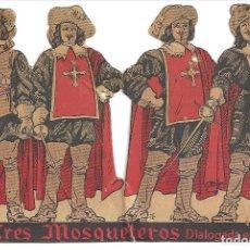 Cine: PTCC 031 LOS TRES MOSQUETEROS PROGRAMA TROQUELADO HENRI DIAMANT-BERGER DUMAS. Lote 146250230