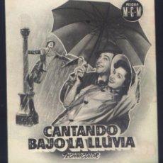 Cine: P-7795- CANTANDO BAJO LA LLUVIA (SINGIN' IN THE RAIN) (DOBLE) (TEATRO REGIO - YECLA) GENE KELLY. Lote 261599605