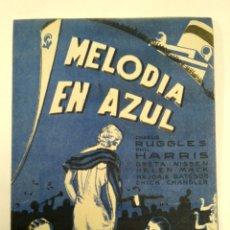 Cine: PROGRAMA DE CINE, MELODÍA EN AZUL.. Lote 146295013