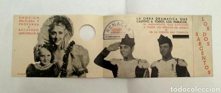 PROGRAMA DE CINE DOBLE, LOS DOS SARGENTOS. (Cine - Folletos de Mano - Bélicas)