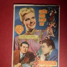 Cine: FOLLETO DE MANO CINE - PELÍCULA FILM - ROMANZA EN ALTA MAR - SIN PUBLICIDAD. Lote 146397826