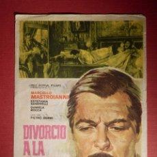Cine: FOLLETO DE MANO CINE - PELÍCULA FILM - DIVORCIO A LA ITALIANA - MONTERROSA, REUS . Lote 146398690