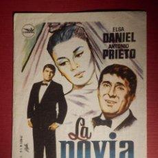 Cine: FOLLETO DE MANO CINE - PELÍCULA FILM - LA NOVIA - FANTASIO - ALCAZAR . Lote 146399022