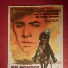 Cine: FOLLETO DE MANO CINE - PELÍCULA FILM - UN HOMBRE SOLITARIO - CINE UNIÓN - CINE CASINO . Lote 146399398