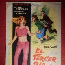 Cine: FOLLETO DE MANO CINE - PELÍCULA FILM - EL TERCER DÍA - CINE VICTORIA . Lote 146400526