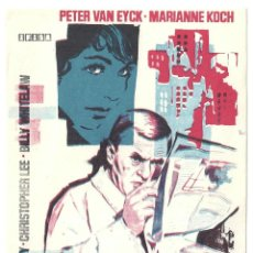 Cine: PTCC 031 AGENTE DEL DIABLO PROGRAMA SENCILLO IFISA PETER VAN EYCK CHRISTOPHER LEE MARIANNE KOCH. Lote 146418062