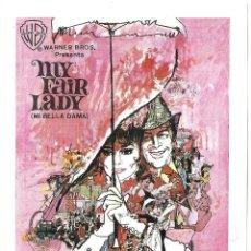 Cinema - PTCC 031 MY FAIR LADY PROGRAMA SENCILLO GRANDE WARNER AUDREY HEPBURN BLANCO A - 146418658