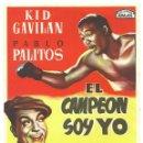 Cine: PTCC 032 EL CAMPEON SOY YO PROGRAMA SENCILLO ARAJOL KID GAVILAN PABLO PALITOS BOXEO. Lote 146428250