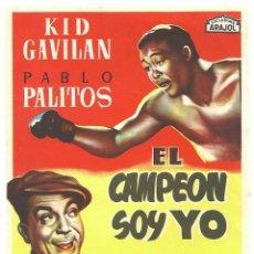 Cinema - PTCC 032 EL CAMPEON SOY YO PROGRAMA SENCILLO ARAJOL KID GAVILAN PABLO PALITOS BOXEO - 146428250