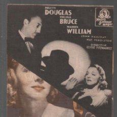 Cine: LA VUELTA DE ARSENIO LUPIN / PROGRAMA DOBLE DE MGM CON PUBLICIDAD RF-1994 . Lote 146467570