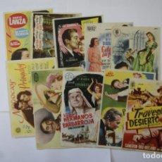 Cine: LOTE 10 PROGAMAS CON CINE AÑOS 50 V9. Lote 146484554