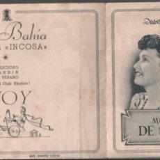 Cine: MUCHACHOS DE SIRACUSA - PROGRAMA DOBLE DE BALLESTEROS CON PUBLICIDAD AL DORSO ,RF-2005. Lote 146493902