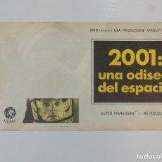 Cine: 2001 UNA ODISEA DEL ESPACIO - FOLLETO DE MANO ORIGINAL DOBLE SIN DOBLAR - STANLEY KUBRICK. Lote 146552254