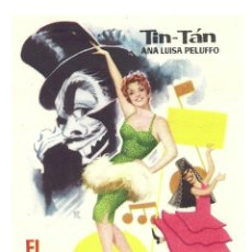 Cine: PTCC 033 EL DUENDE DE LA OPERETA PROGRAMA SENCILLO TIN TAN ANA LUISA PELUFFO. Lote 146563834