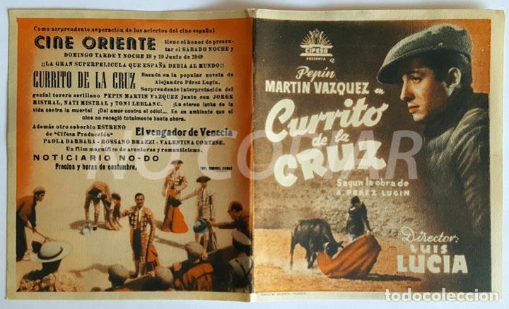 Cine: PACK 2 PROGRAMAS (SIMPLE Y DÍPTICO) DE LA PELÍCULA CURRITO DE LA CRUZ. SIN USO!!! - Foto 2 - 146625690