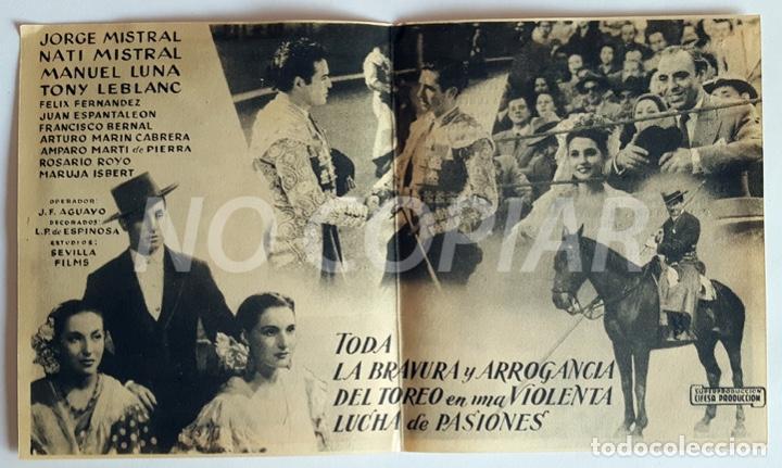 Cine: PACK 2 PROGRAMAS (SIMPLE Y DÍPTICO) DE LA PELÍCULA CURRITO DE LA CRUZ. SIN USO!!! - Foto 3 - 146625690