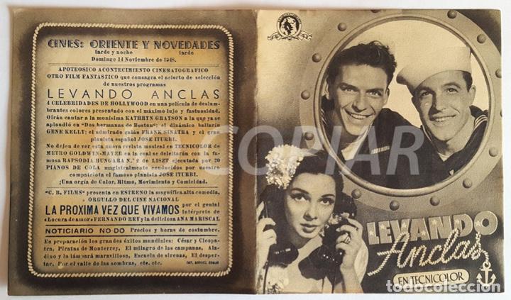 Cine: Pack 2 programas (1 sencillo y 1 díptico) de la película LEVANDO ANCLAS. Muy bien conservados, - Foto 2 - 146630626