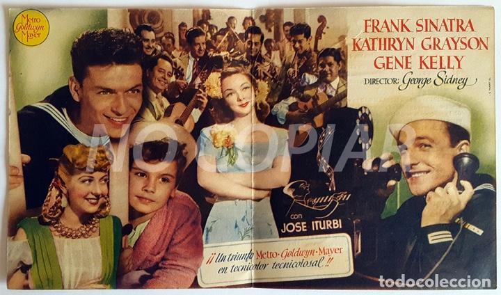 Cine: Pack 2 programas (1 sencillo y 1 díptico) de la película LEVANDO ANCLAS. Muy bien conservados, - Foto 3 - 146630626