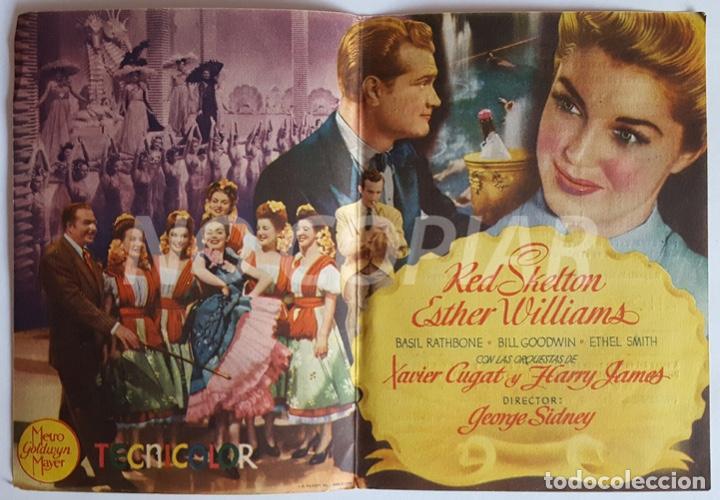 Cine: Pack 3 programas (2 sencillos y 1 díptico) de la película ESCUELA DE SIRENAS. Muy bien conservados, - Foto 4 - 146630974